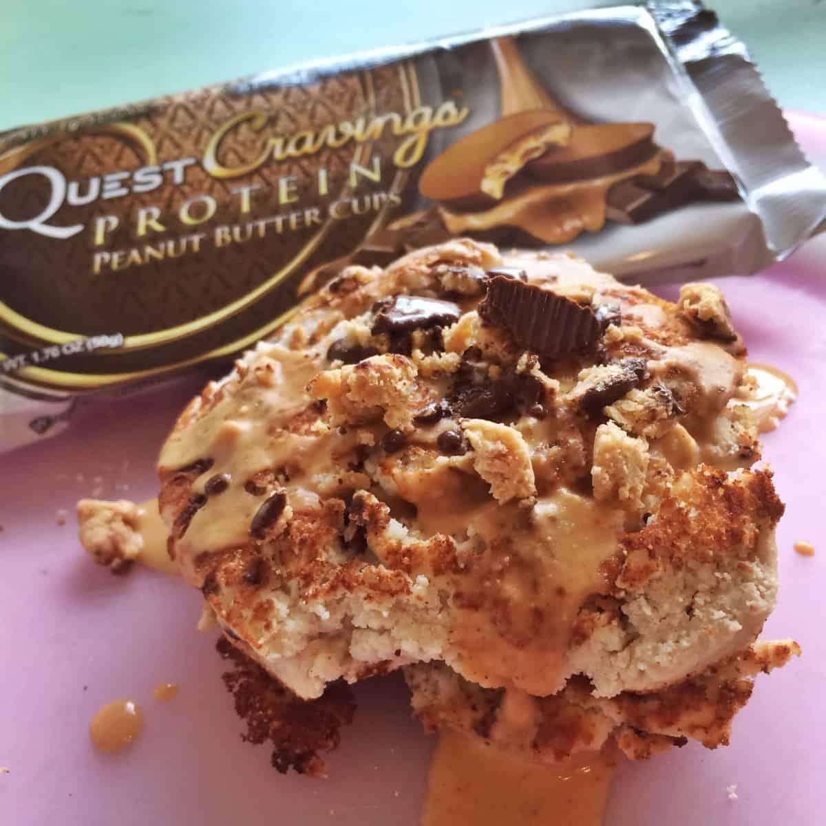 Quest Peanut Butter Cup Pancakes