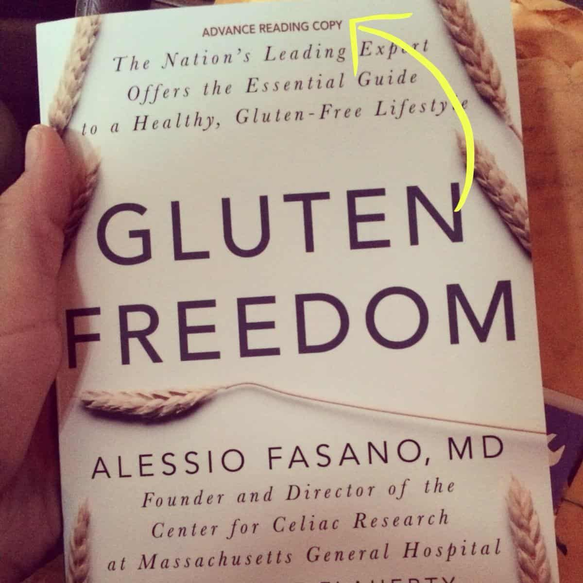 Gluten Freedom by Dr. Alessio Fasano Book Review & GIVEAWAY!!