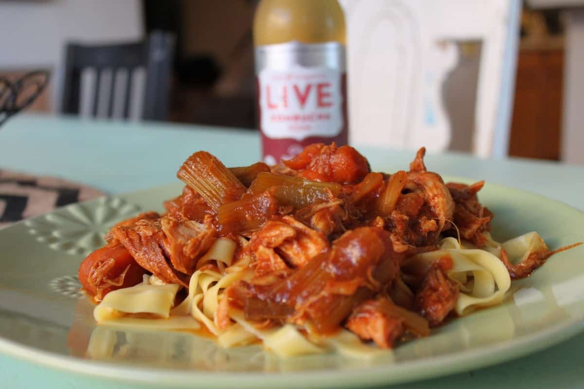 Sponsored: LIVE Soda Kombucha GIVEAWAY & BBQ Chicken Stroganoff Recipe
