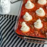 "This spooky ghost shepherd's pie is the perfect Halloween dinner! It is surprisingly easy to make and will have the whole family ""dying"" in laughter!"