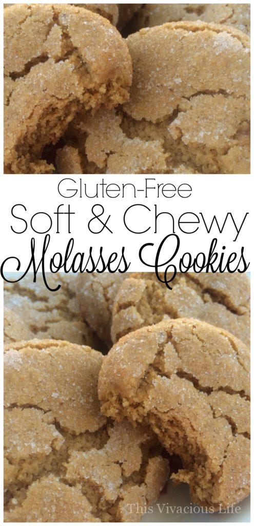 These gluten-free soft and chewy molasses cookies are going to be a new holiday favorite. They are bursting with flavors of Christmas that everyone loves!