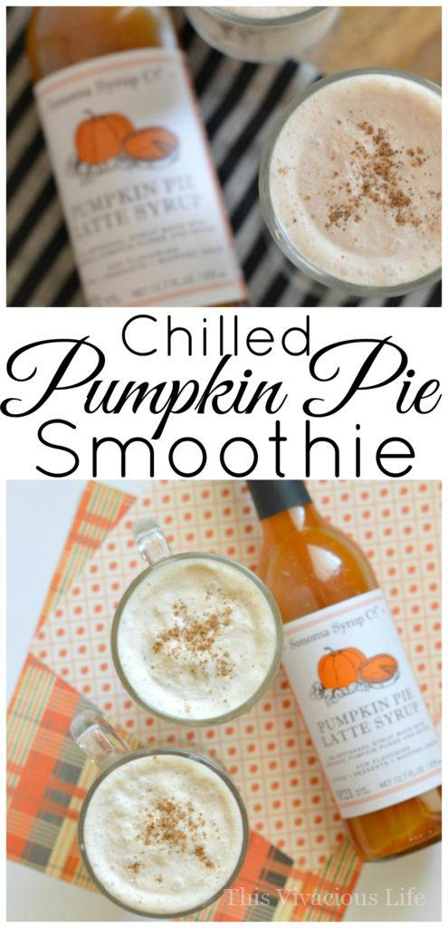 This chilled pumpkin pie smoothie is perfect for those early days of fall when the weather is still not quite cold. You are going to love this drink!
