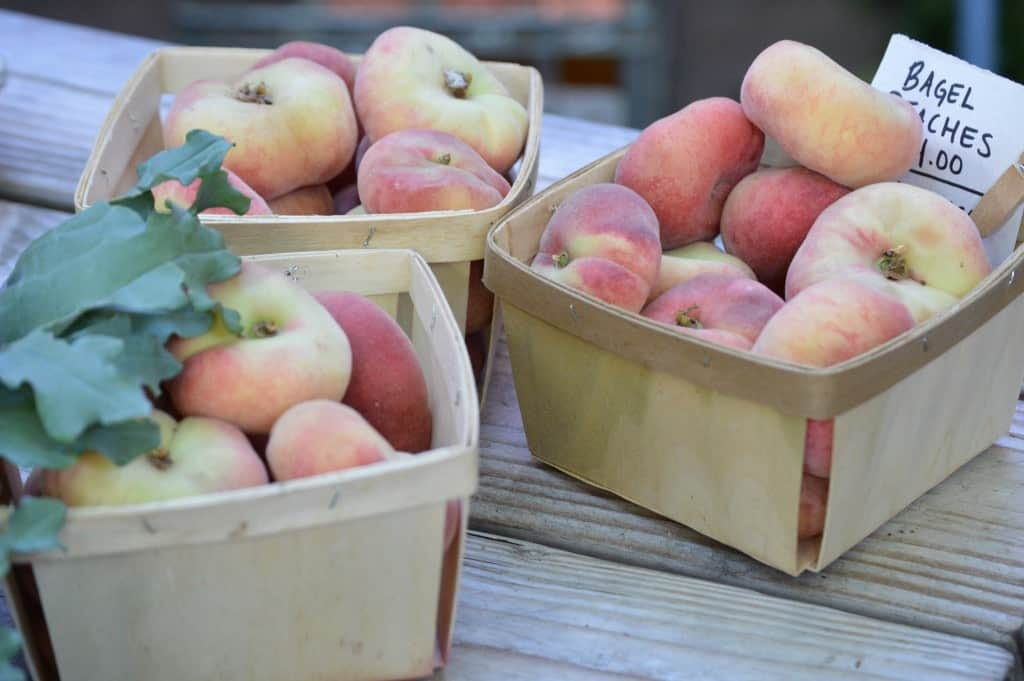 Peaches in little containers