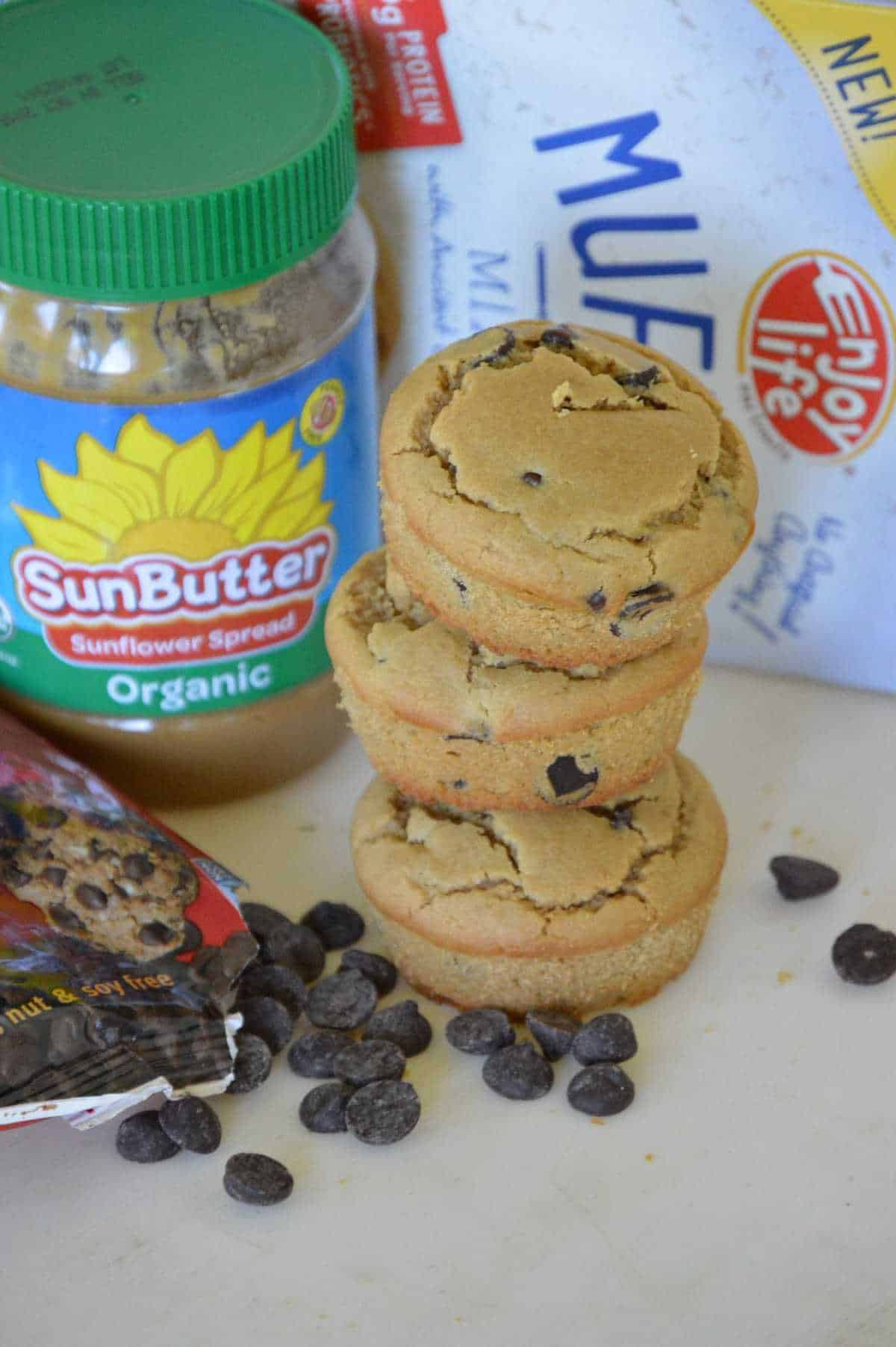 Enjoy Life Chocolate Chip & Sunbutter Top 8 Allergen-Free Muffins ...