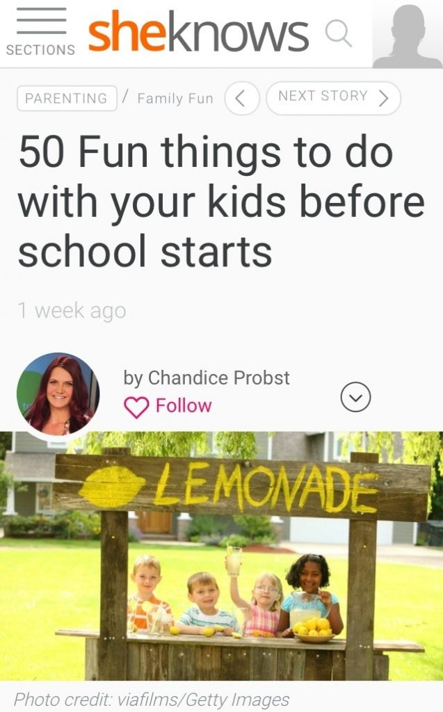 I have been actively working on making each day count with my kids.Check out the full list of 50 fun things to do with your kids and make summer fun!