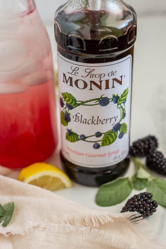 Blackberry monin syrup bottle