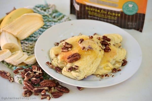 Gluten-Free Banana Pecan Pancakes