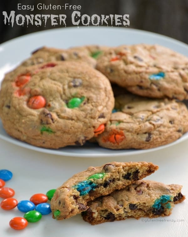 Easy Gluten-Free Monster Cookies that are ready in under 20 minutes!
