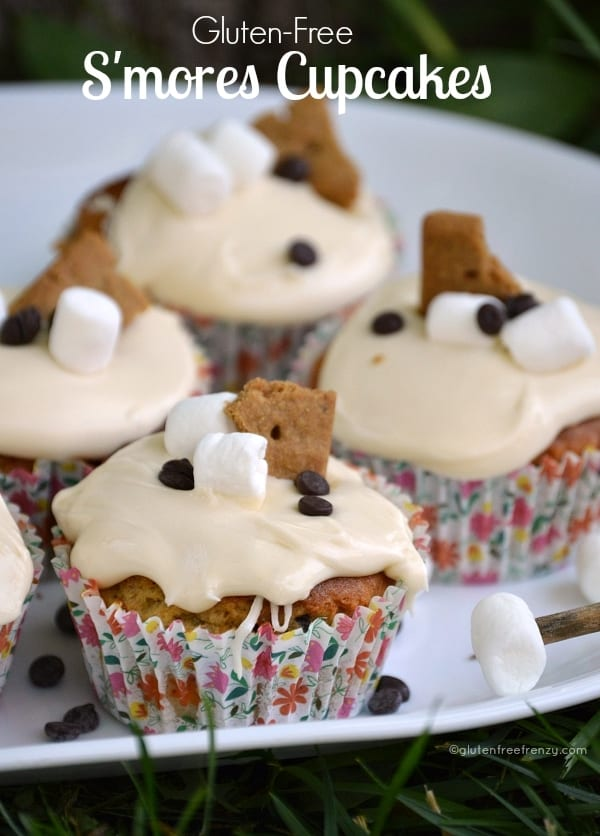 Gluten-Free S'mores Cupcakes | gluten free cupcake recipes | gluten free s'mores recipes | gluten free dessert recipes | cupcake recipes gluten free | gluten free sweets || This Vivacious Life