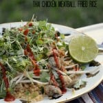Gluten Free Thai Chicken Meatball Fried Rice