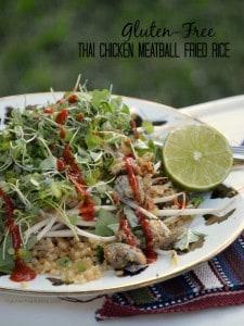 Gluten-Free Thai Chicken Meatball Fried Rice