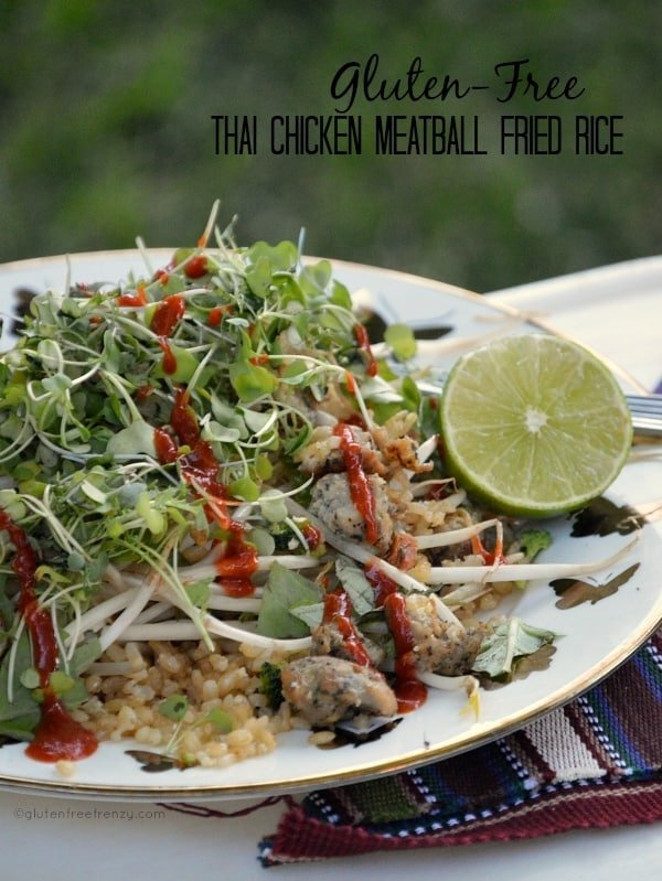 Gluten Free Thai Chicken Meatball Fried Rice
