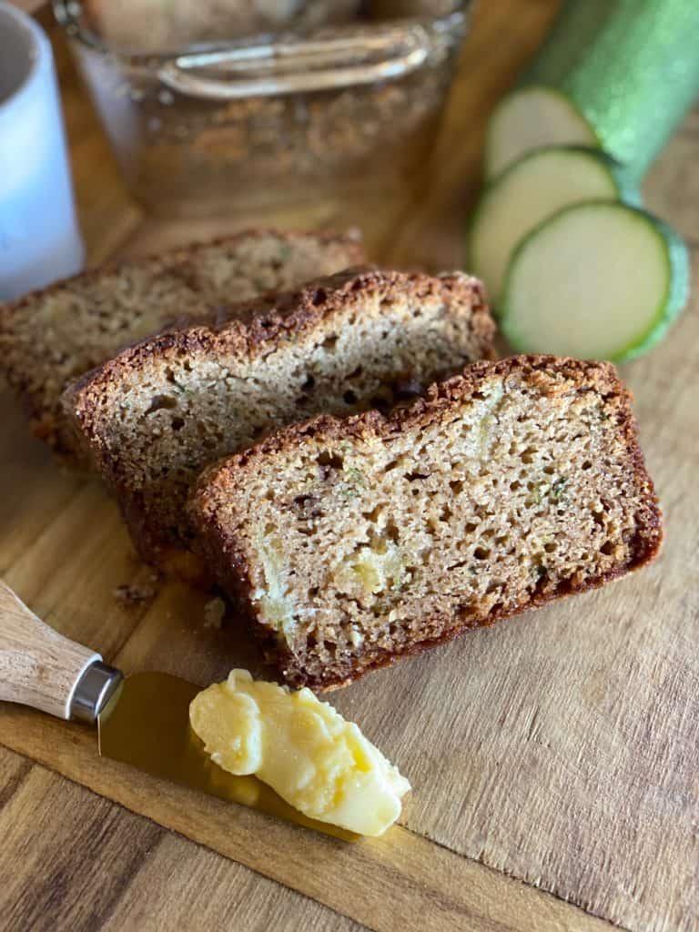 sliced gluten-free zucchini bread