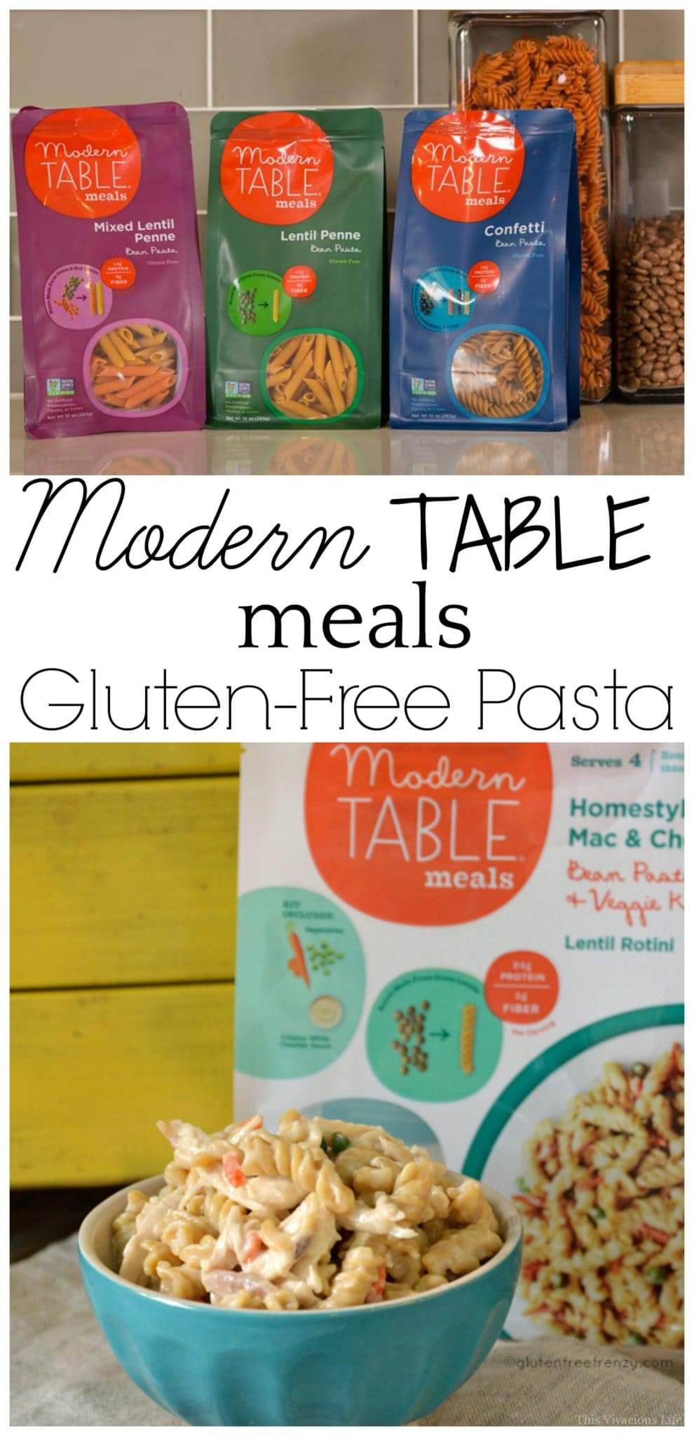 Modern table meals gluten free pasta giveaway this for Table 52 gluten free