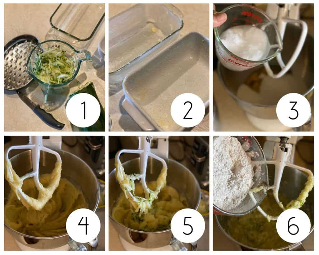 step by step gluten-free zucchini bread photos