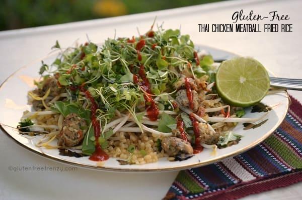 Thai Chicken Meatball Fried Rice (Gluten-Free)