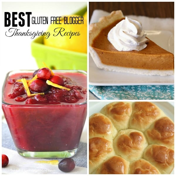 28 of the BEST gluten-free blogger Thanksgiving recipes in one place. From pull apart rolls and other sides to main dishes, pies and desserts, you will have all you need to create a fantastic gluten-free dinner.