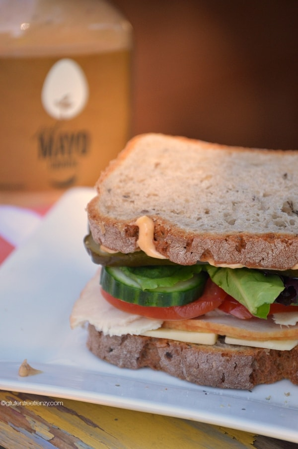 Gluten-free sandwich made easy with Just Mayo | gluten-free sandwich recipes | gluten-free lunch recipes | gluten-free turkey sandwich || This Vivacious Life #glutenfree