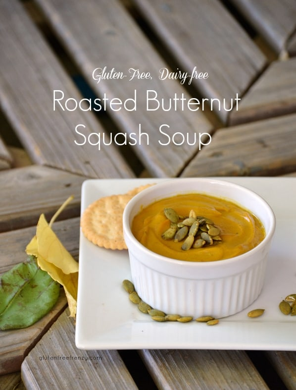 Gluten-free Dairy-free Roasted Butternut Squash Soup