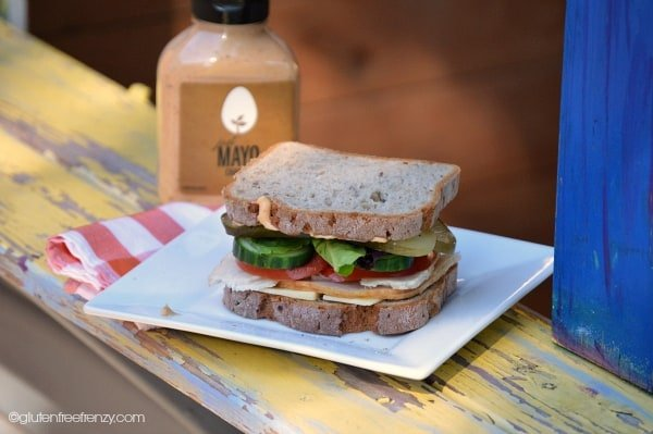 Let's talk sandwiches! This turkey sandwich is gluten-free. Great to make with Thanksgiving leftovers!
