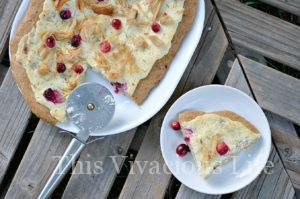 White Cream, Turkey & Cranberry Pizza {Thanksgiving Leftovers}