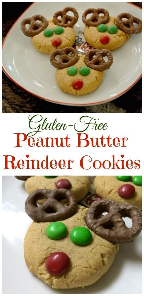 Gluten Free Peanut Butter Reindeer Cookies For The Holidays