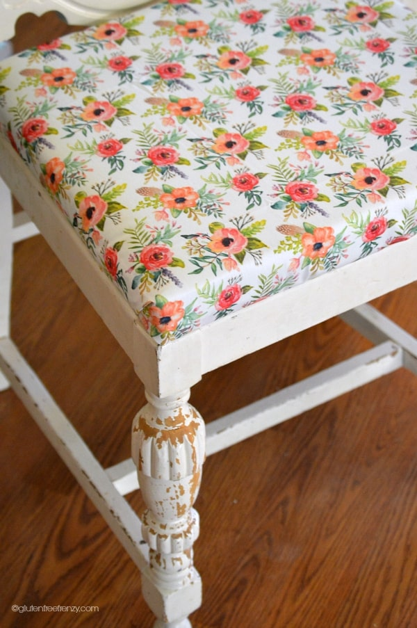No sew reupholstered chairs
