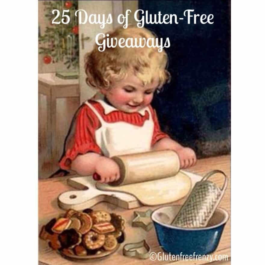 25 Days of Gluten-Free Giveaways™ by Gluten Free Frenzy December 1-25th annually. Thousands of dollars in prizes from great brands like Love With Food, Glutino & Six Pack Bags