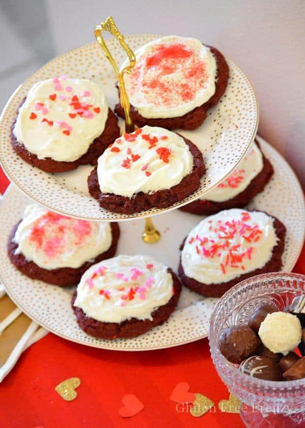 Gluten-Free Ooey Gooey Red Velvet Cookies