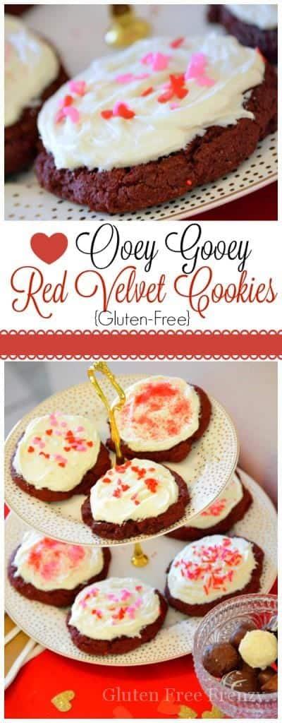 {Gluten-Free} Ooey Gooey Red Velvet Cookies