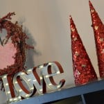 Valentines Decor Repurposed from Christmas