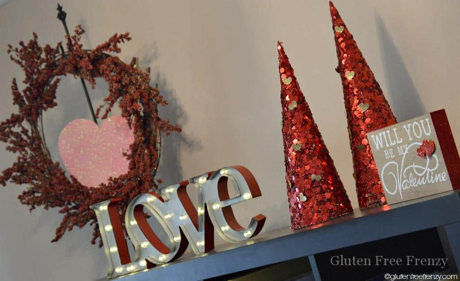 DIY Valentines Day Decor from Christmas Decorations!