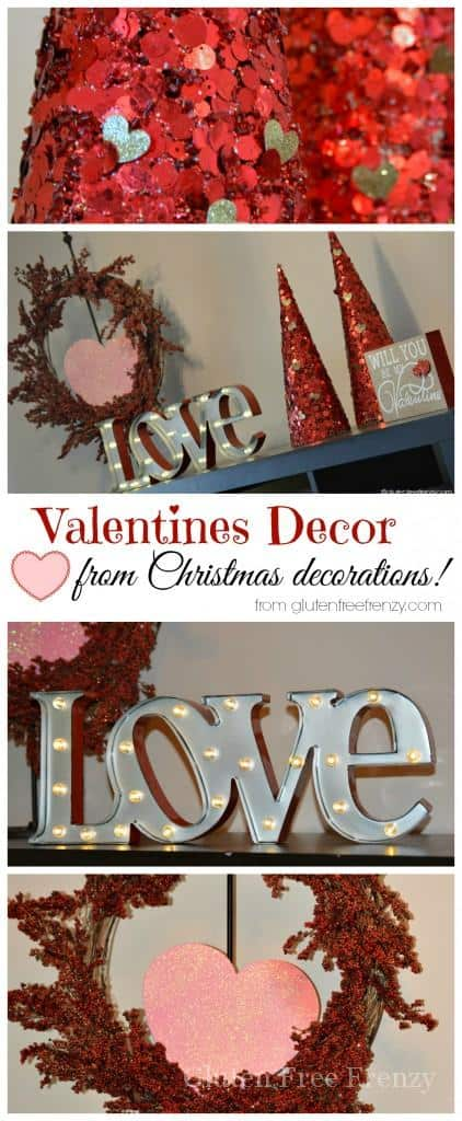 Diy Valentines Day Decor From Christmas Decorations This Vivacious Life