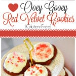 These ooey, gooey red velvet cookies are moist, soft and so delicious they will make your valentine swoon!