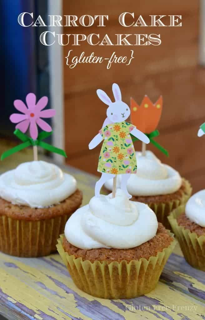 Gluten-Free Carrot Cake Cupcakes | gluten-free carrot cake | gluten-free cupcakes | gluten-free Easter desserts || This Vivacious Life #easterdessert #carrotcake #glutenfreecupcake