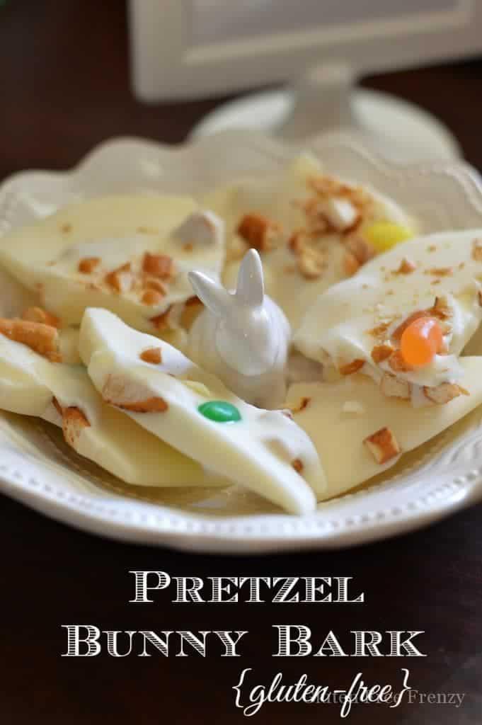Gluten-Free Pretzel Bunny Bark | gluten-free Easter desserts | gluten-free desserts || This Vivacious Life #glutenfreeeaster #glutenfreedesserts #glutenfree
