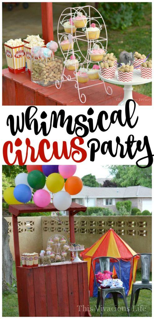 This whimsical circus party is bright, colorful and super fun! From games and activities to delicious circus themed food like cotton candy cake pops, this party really does have it all. Kids and adults alike will experience the whimsy through DIY animal cracker pillows, fun decor and more.