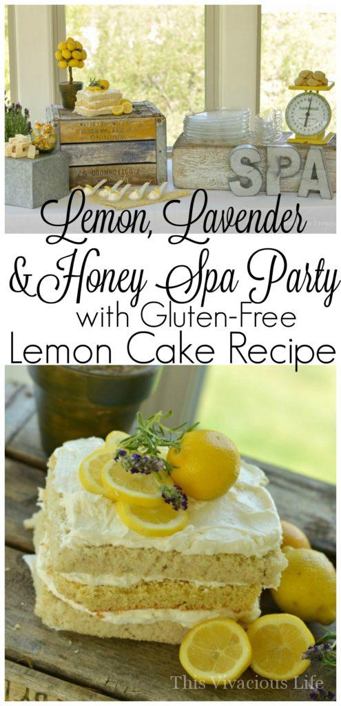 This honey, lemon & lavender spa party is full of fun ideas including a delicious lunch and dessert table. | summer party ideas | ladies spa party || This Vivacious Life #party #partyideas #spaparty