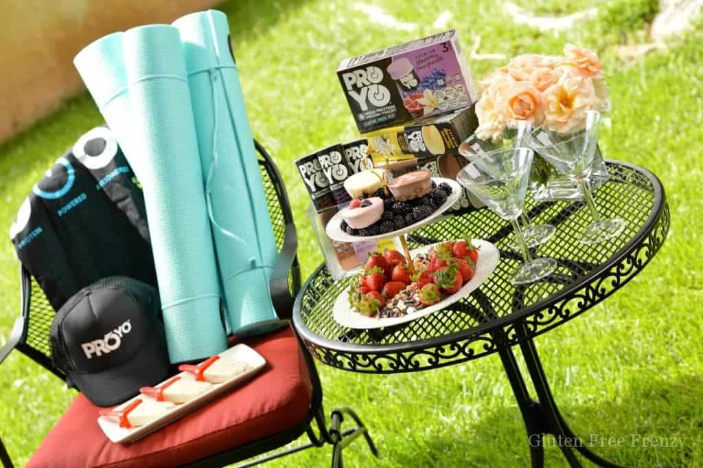 Cute ideas and recipes for an outdoor pilates party plus how-to for doing one yourself. www.glutenfreefrenzy.com