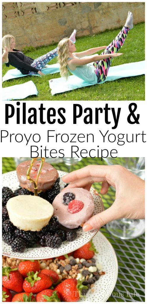 "Pilates Party & Proyo Frozen Yogurt Bites Recipe | Easy frozen yogurt ""muffins"" that are gluten-free and make breakfast a breeze! 