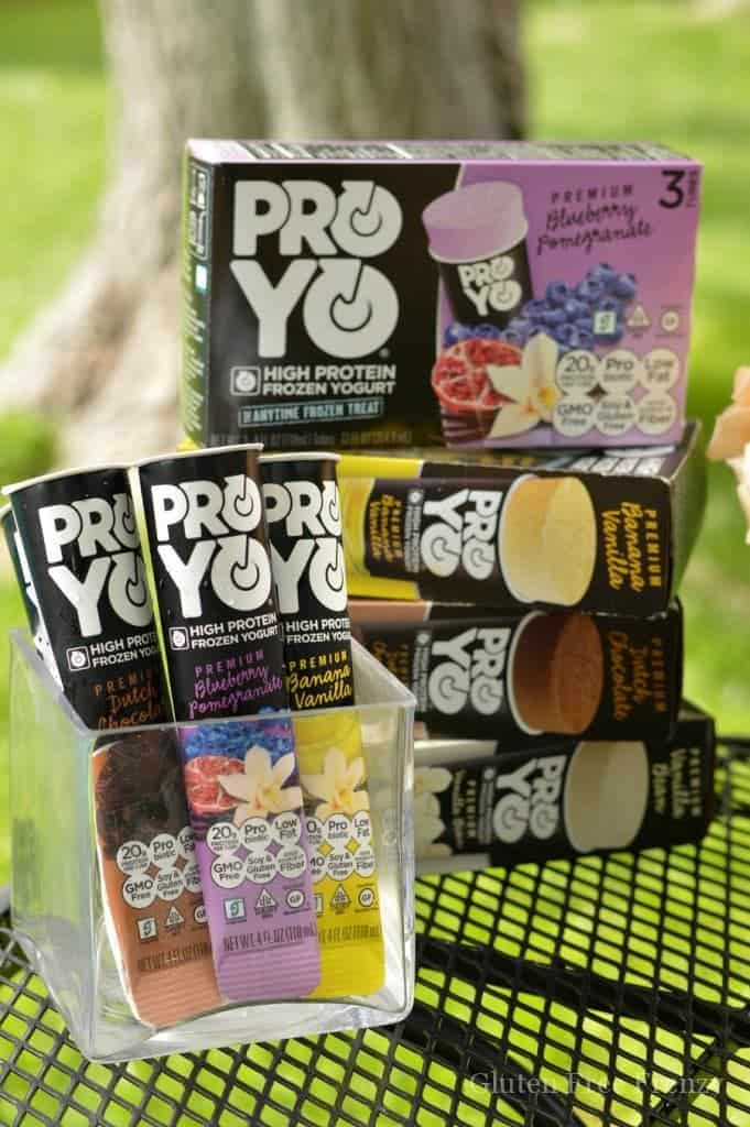 Protein packed frozen yogurt (Proyo) and cute ideas and recipes for an outdoor pilates party plus how-to for doing one yourself. www.glutenfreefrenzy.com ad