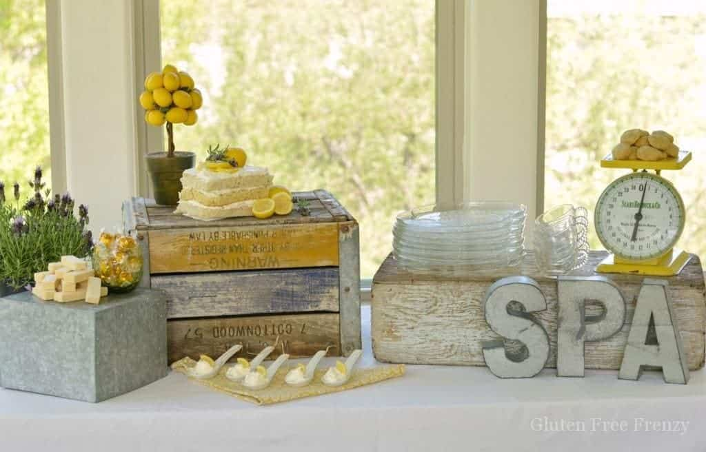 Lemon, Lavender & Honey Spa Party with Gluten-Free Lemon Cake