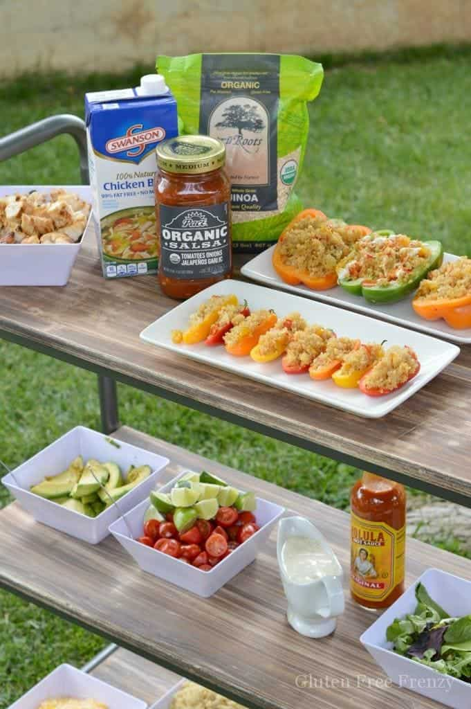 How fun is this block party?! It is so easy to create one of your own. The DIY giant yard yahtzee looks so fun and the BYOB (build your own burrito bowl) bar looks scrumptious! || This Vivacious Life #summerparty #blockparty #outdoorparty #partyideas #neighborhoodparty #summerfun