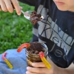 Easy DIY nature bracelets and dirt cups for spring and summertime fun!