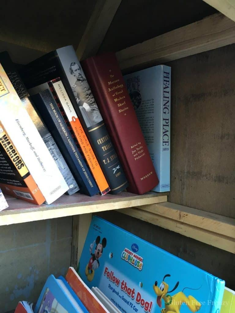 This DIY little library is so cute and totally promotes childhood literacy in neighborhoods. Get measurements and more on how to build your own little lending library. Plus, see all the gorgeous pictures from the adventure awaits little lending library party!