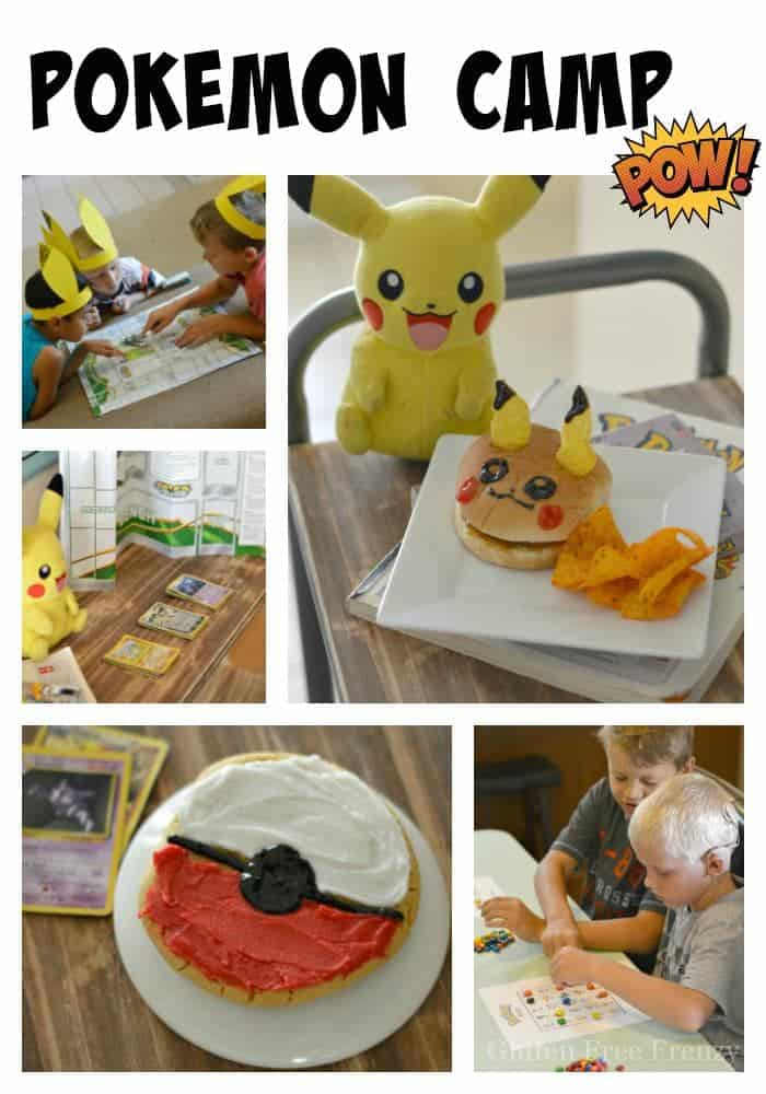 How to host a Pokémon Go camp! Pokeball cookies and rice krispies, Pikachu sandwiches, games and so much more!