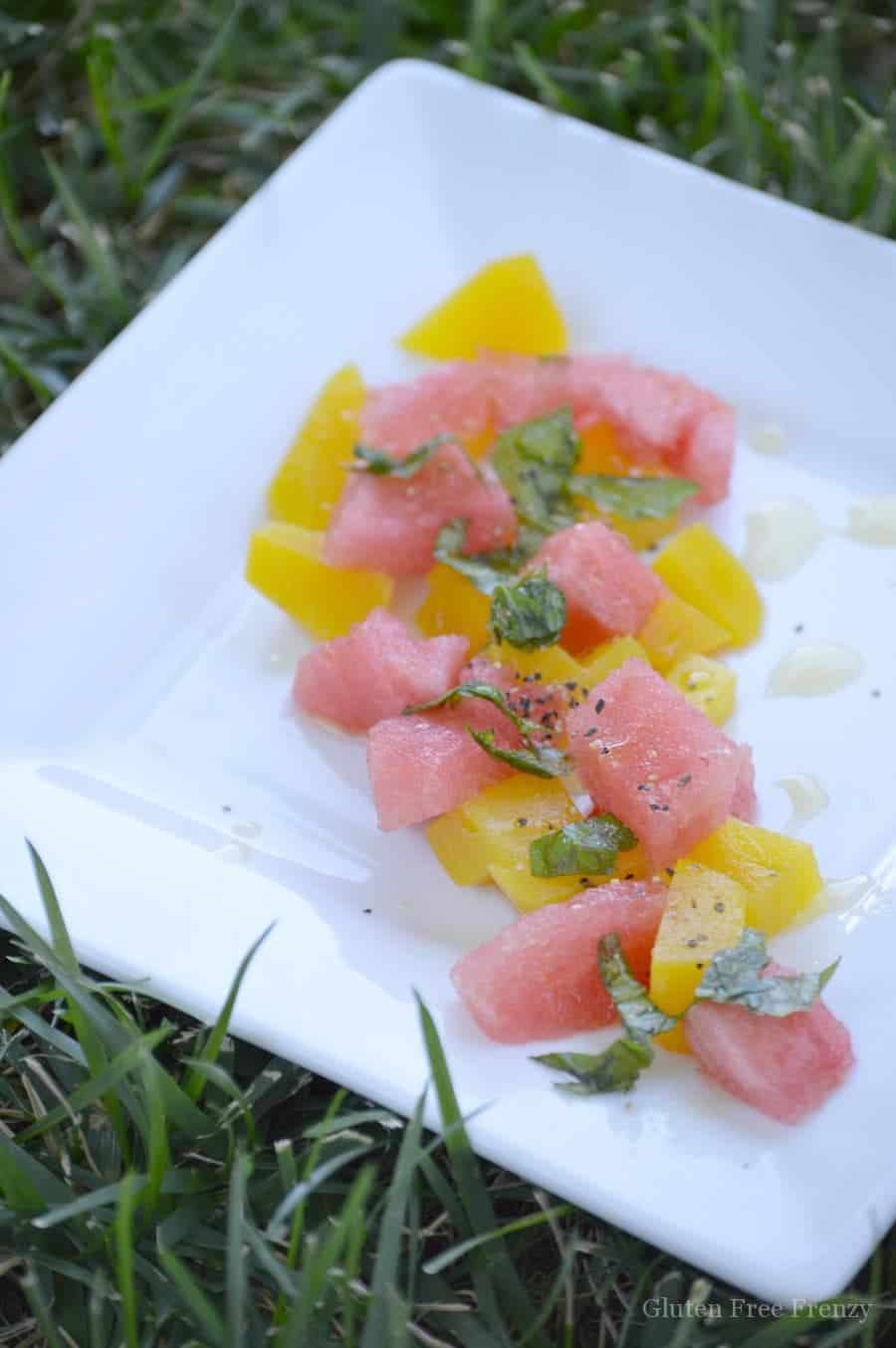 The ultimate summer salad is brought to the table with this golden beet & watermelon salad. It is fresh, easy and absolutely beautiful! glutenfreefrenzy.com