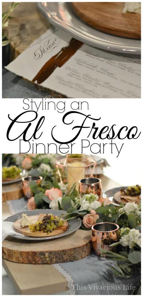 We are showing you how to style an al fresco dinner party that will wow your guests!