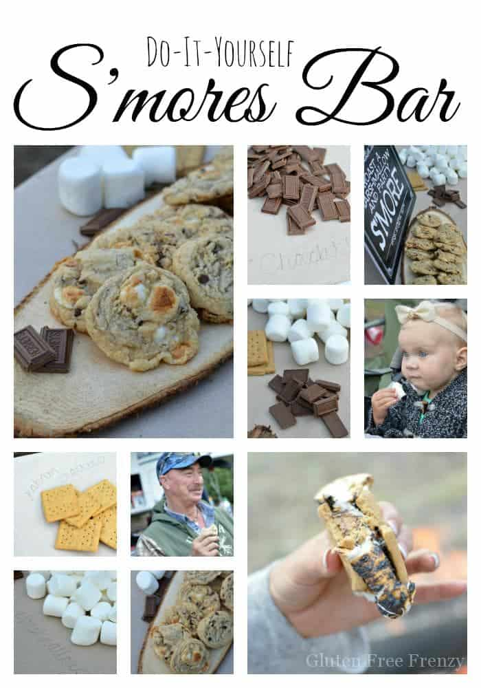 Oh my goodness this rustic s'mores bar is so dang cute! The best part? It can be put together on a budget. PLUS get the tasty recipe for ooey, gooey s'mores cookies! Ooey Gooey Gluten-Free S'mores Cookies | gluten free desserts | gluten free cookie recipes | gluten free recipes | gluten free sweets | how to make gluten free cookies || This Vivacious Life #glutenfree #smores #glutenfreecookies #cookies #summerparty #summer #glutenfreedesserts #thisvivaciouslife