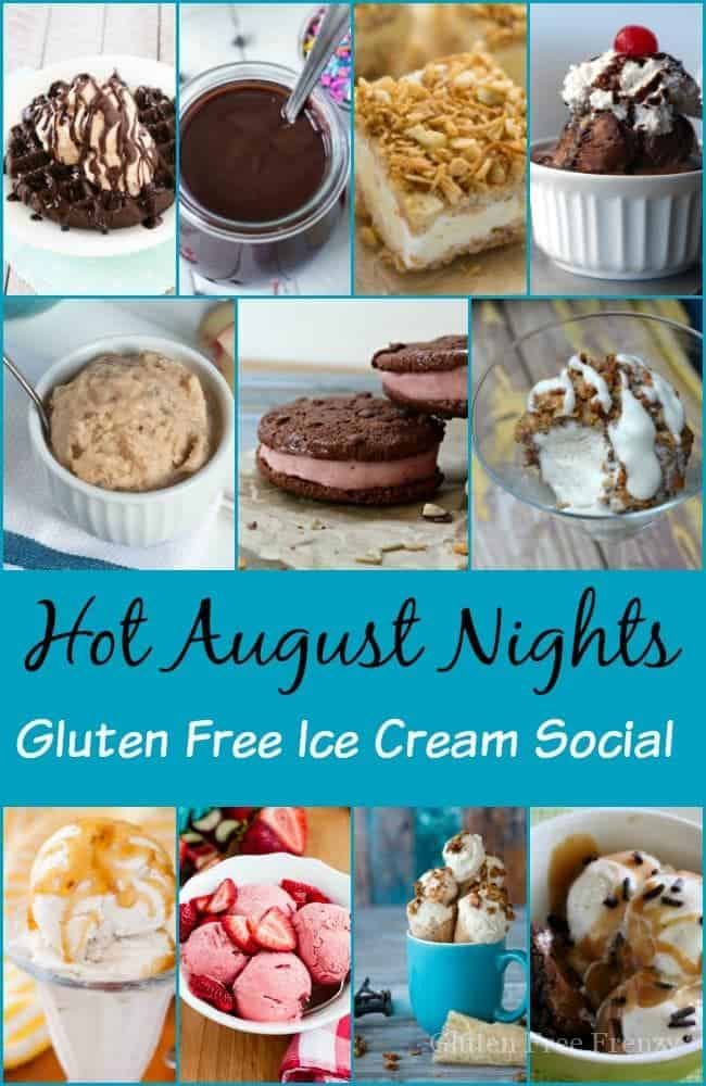 Love this roundup of tasty hot August nights gluten-free ice cream recipes! Brought together from some of the best bloggers out there... glutenfreefrenzy.com